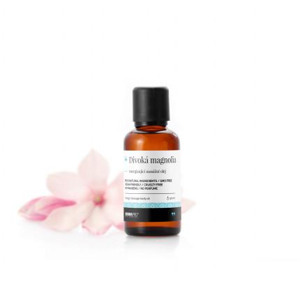Divoká magnolia, energizující masážní olej