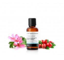 BIO Šípek a Geránium, vyhlazující masážní olej