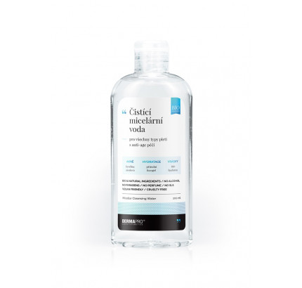 Čistící micelární voda, s anti-age péčí